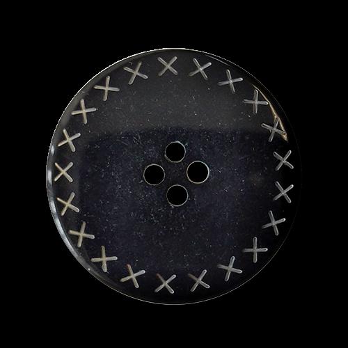 www.knopfparadies.de - 5369sc - Vierlochknöpfe aus Kunststoff in schwarz-weiß