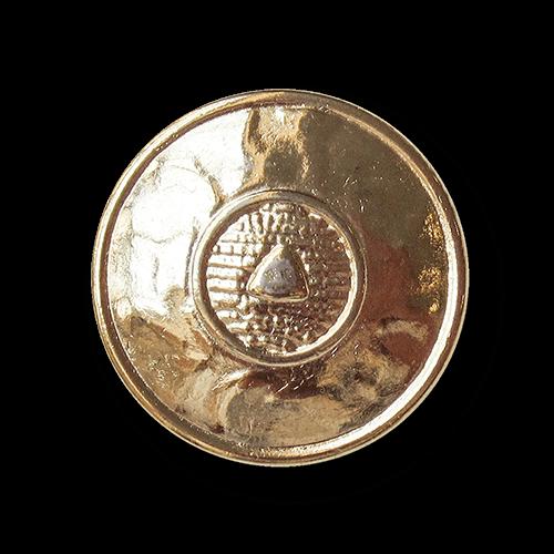 Goldfb. Metall Knopf wie aus Mittelalter o. Antike