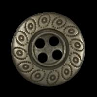Altmessingfarbener 4-Loch-Knopf