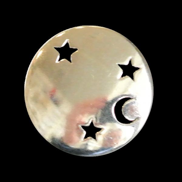 Metallknöpfe mit Mond und Sternen