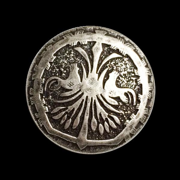 www.Knopfparadies.de - 5535as - Silberne Trachtenknöpfe mit idyllischem Tier Motiv