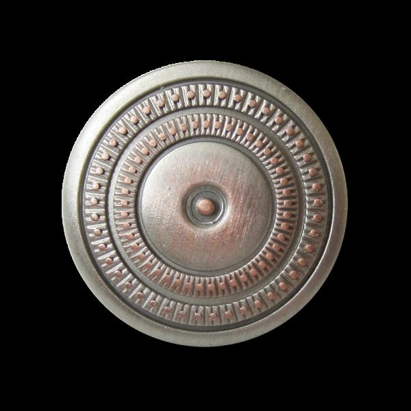 Edler Metall Ösen Knopf in eleganter Rosetten Optik