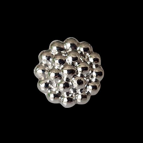 Edler silberfarbener Blusenknopf aus Metall