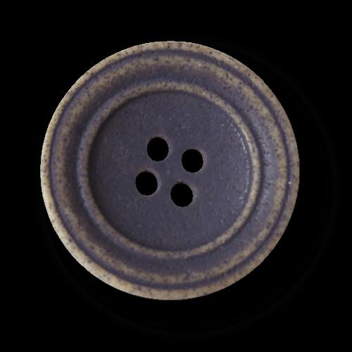Kreativer lila hellbrauner Vierloch Kunststoff Knopf