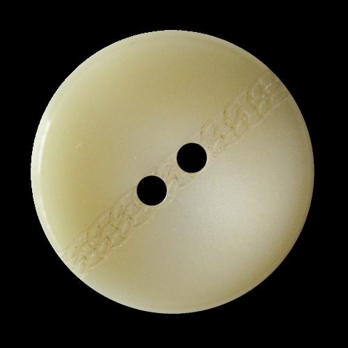 www.knopfparadies.de - 3027wg - Grau weiß schattierte Kunststoffknöpfe in Tabletten Form imt Zierband
