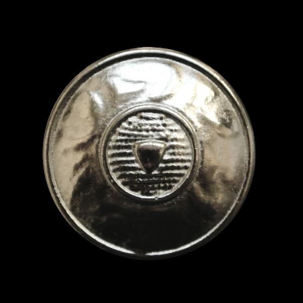 Silberfb. Metall Knopf wie aus Mittelalter o. Antike