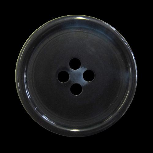 www.knopfparadies.de - 1522db - Dunkelblaue Kunststoffknöpfe mit gewölbter Rückseite