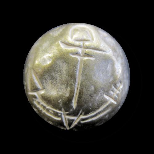 Messsing-silberfb. Metallknöpfe mit Anker