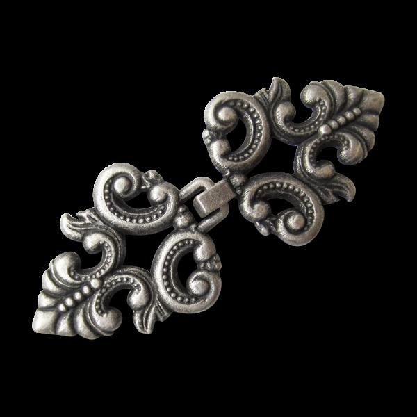 Dekorative altsilberfarbene Metallverschlüsse / Zierverschlüsse