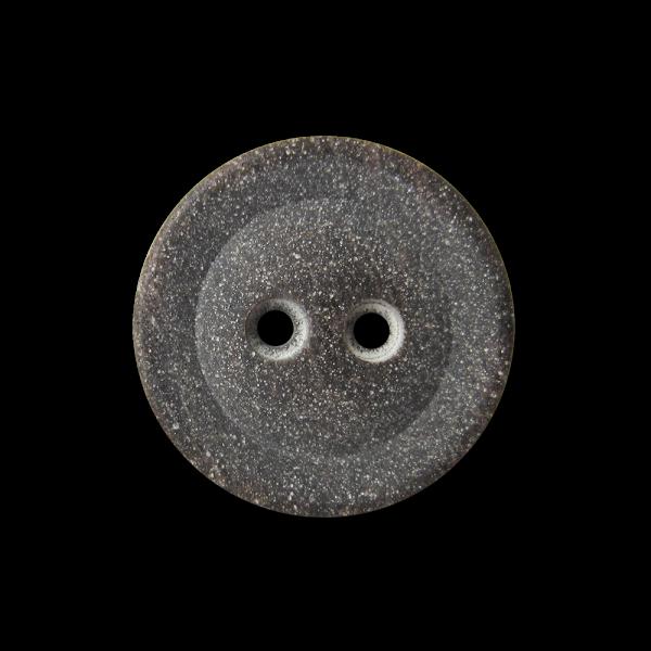 Dunkelbraun marmorierter gesprenkelter Knopf wie Stein