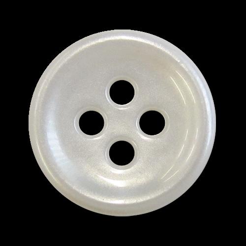 www.knopfparadies.de - 6000we - Weiß schimmernde Kunststoffknöpfe