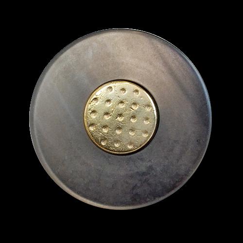 www.knopfparadies.de - 6131gg - Schwere Blazerknöpfe aus Metall und Kunststoff - B-Ware