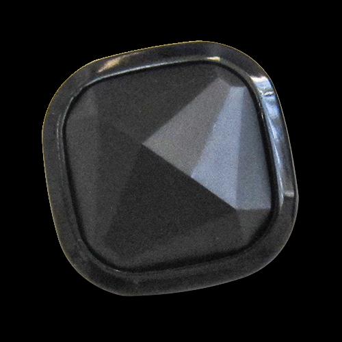www.knopfparadies.de - 4145sc - Ausgefallene Kunststoffknöpfe in matt und glänzend schwarz