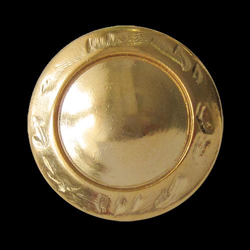 Schlichter goldfarbener Metallknopf