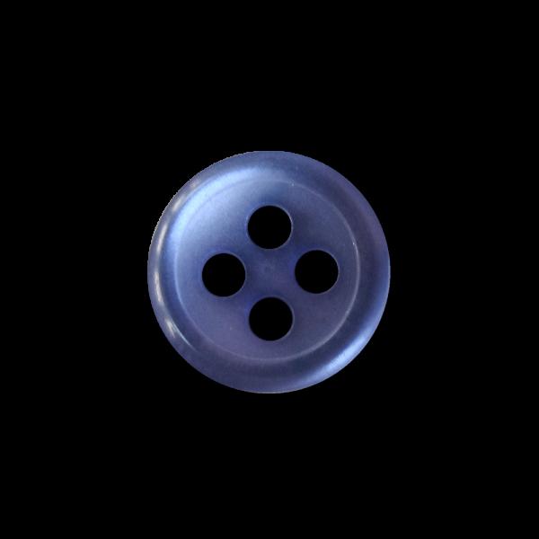 Blau schimmernder kleiner Blusen Hemden Vierloch Knopf