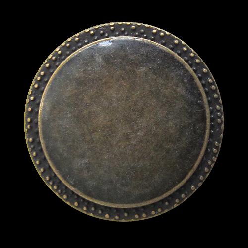 www.Knopfparadies.de - 1569md - Günstigere altmessingfarbene Metallknöpfe mit milchigem Überzug