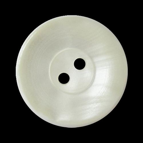 www.knopfparadies.de - 3334we - Weiße Kunststoffknöpfe mit zwei Löchern