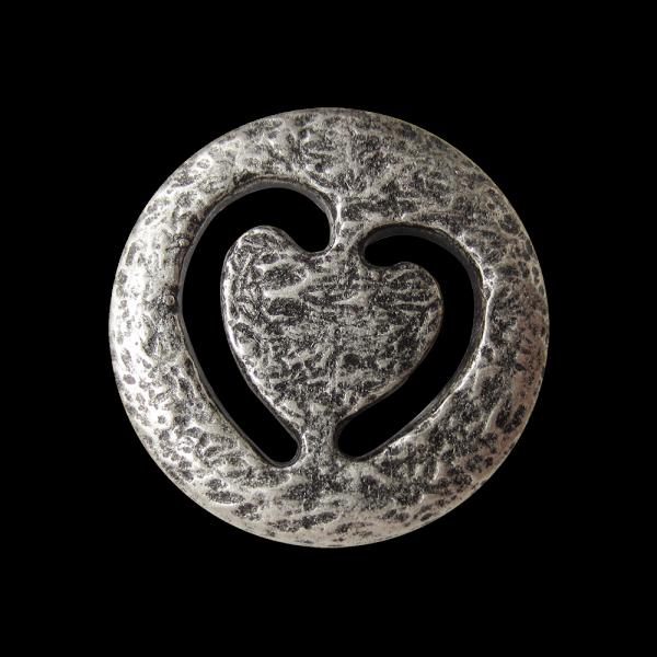 Ausgefallener Metall Knopf mit Durchbruch Herz