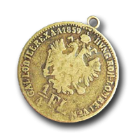 Replik alter Münzen als Anhänger für Chariwari, etc.