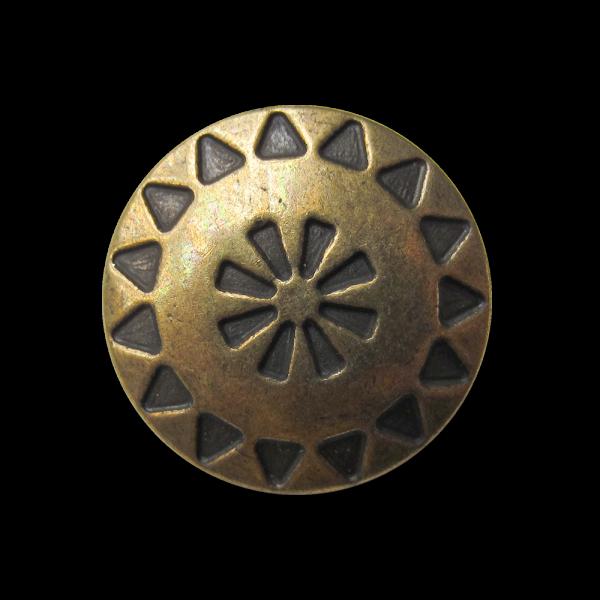 Hübscher Ösen Metall Knopf mit Ethno Muster