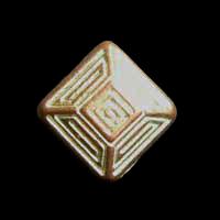 Kupferfarbene quadratische Knöpfe