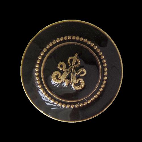 www.knopfparadies.de - 1520gs - Edle Metallknöpfe in schwarz und gold