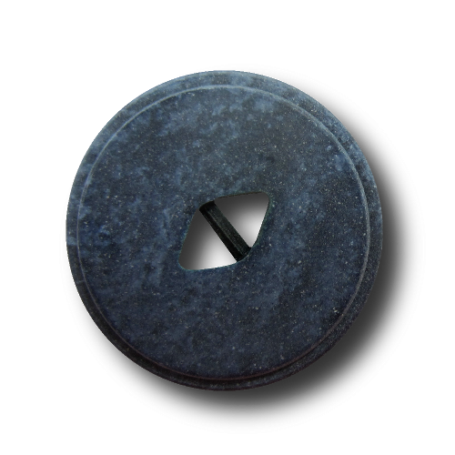 10er-Set blau melierte Knöpfe