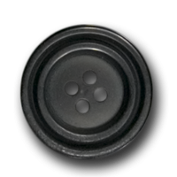 Schwarzer Kunststoffknopf - toll zum Kombinieren!