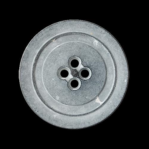 www.knopfparadies.de - 1111zn - Leichte Vierlochknöpfe aus Kunststoff in Vintage Optik