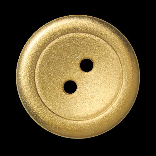 Goldfarbene Metallknöpfe in schlichtem Zweilochdesign - B-Ware: kleinere Fehler
