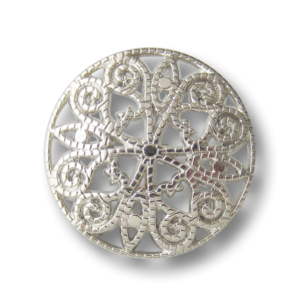 Faszinierender Metall Knopf mit filigranem Durchbruch