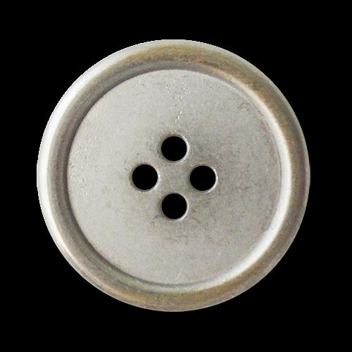 www.Knopfparadies.de - 3222bi - Metall Vierlochknöpfe in Bicolor Optik mit kleinen Mängeln
