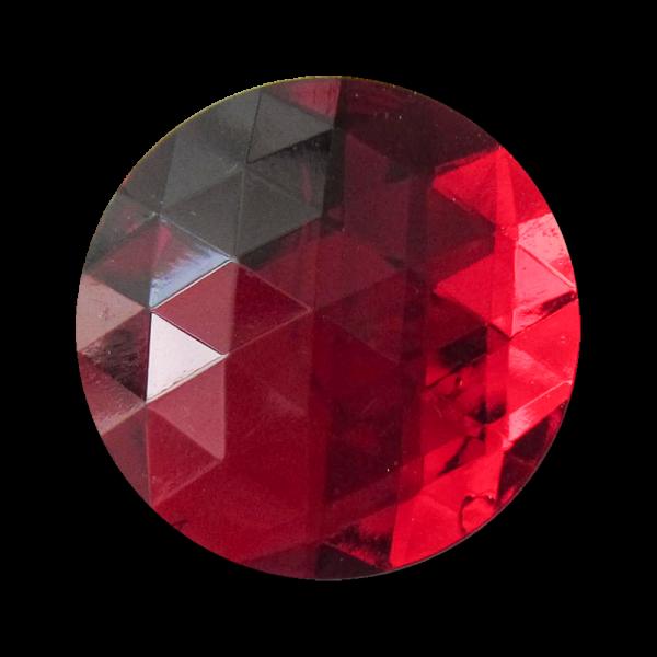Sehr große rot facettierte Glitzer Ösen Knöpfe / B-WARE