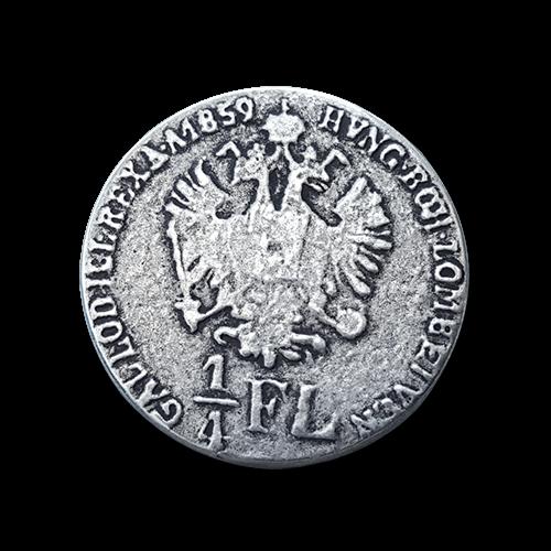 www.knopfparadies.de - 0322as - Münzknöpfe / Metallknöpfe wie Österreichische Münze