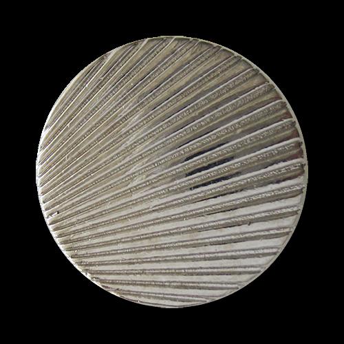 www.Knopfparadies.de - 0780si - Silberne Metallknöpfe mit Muschel Muster