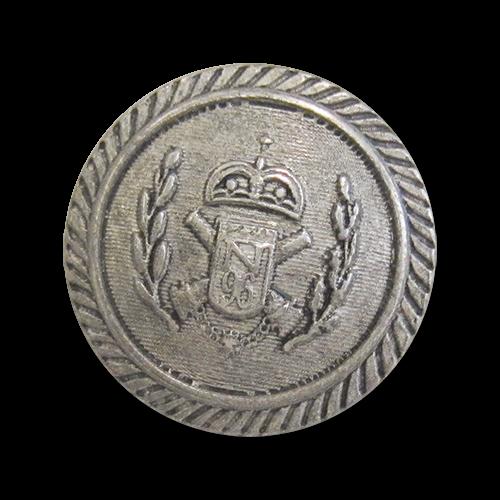 www.knopfparadies.de - 2379as - Altsilberfarbene Wappenknöpfe aus Metall