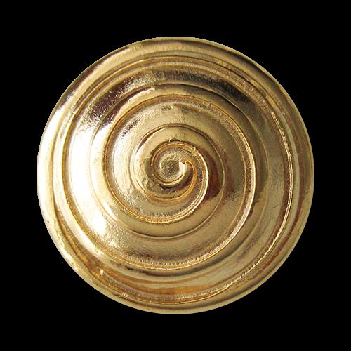www.Knopfparadies.de - 2270gg - Goldene Metallknöpfe mit Spirale
