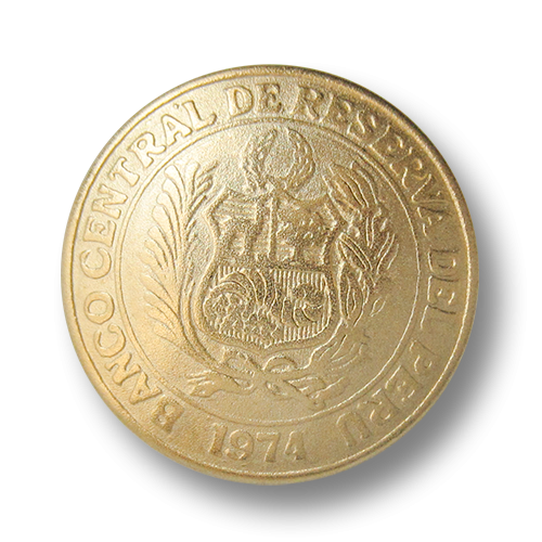 Klassischer Münz Metall Knopf mit Wappen für Blazer