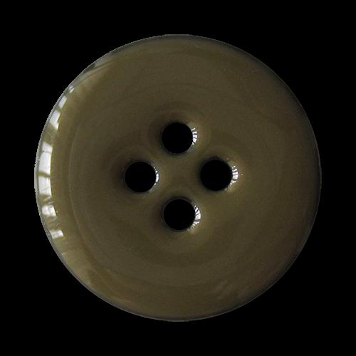 www.knopfparadies.de - 3064gr - Blaue Vierloch Kunststoffknöpfe mit grün glänzender Oberfläche