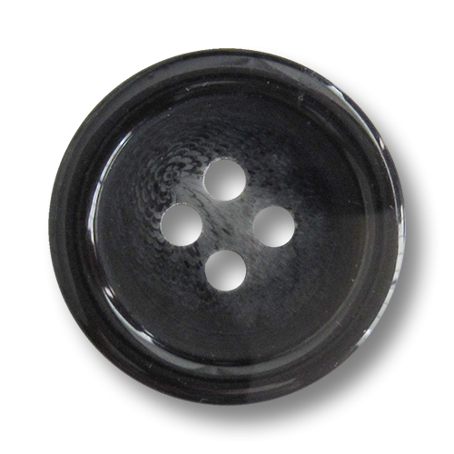 www.knopfparadies.de - a260sc - Günstige schwarz-grau gefiederte Kunststoffknöpfe
