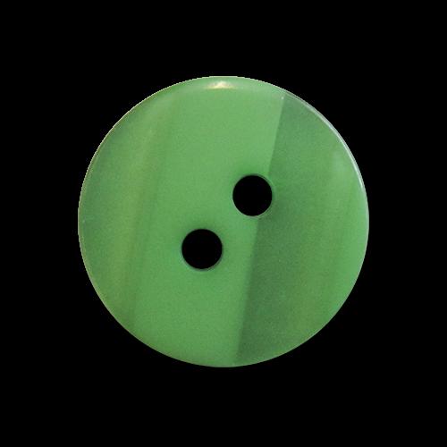 www.Knopfparadies.de - 4219gn - Kleine Zweilochknöpfe aus Kunststoff in Grün mit Perlmuttschimmer
