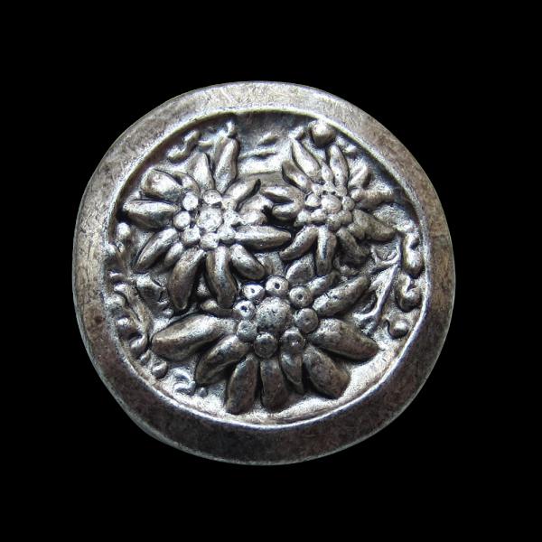 Schöner Trachtenknopf mit Edelweiß-Relief