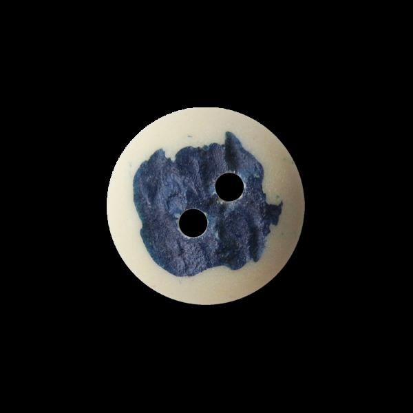 Hübscher Zweiloch Trachten Kunststoff Knopf mit Farbakzent