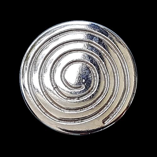 Hypnotisierender silberfarbener Metallknopf