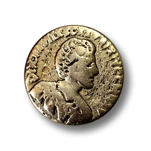 Metallknopf, goldfarben, wie alte Münze