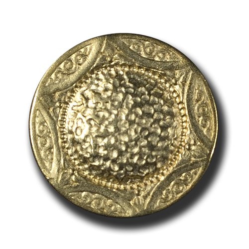 Schöner goldfarbener Metallknopf