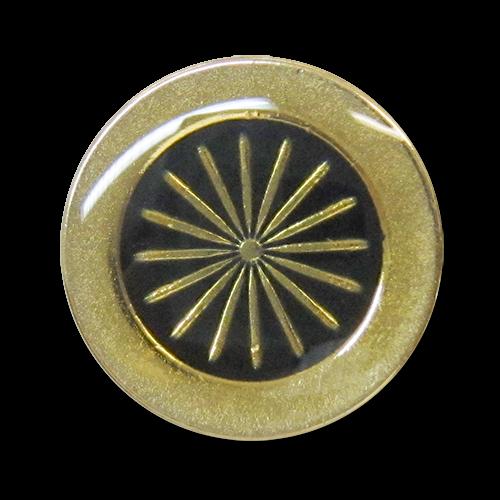 www.knopfparadies.de - 2635go - Goldfarbene Blazerknöpfe aus Metall