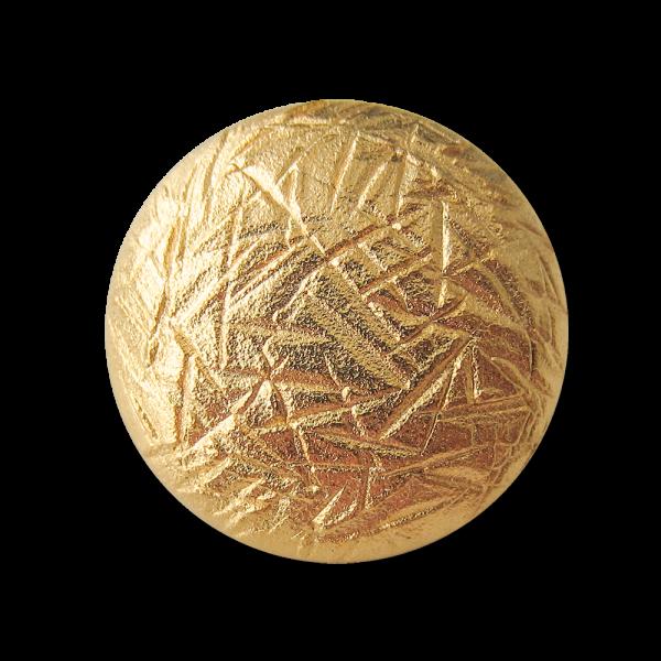 Sehr attraktive matt goldfarbene Metallknöpfe