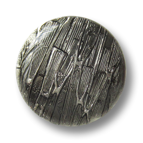 www.knopfparadies.de - 2529si - Silbergraue Designerknöpfe aus Metall