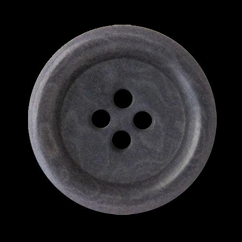 www.knopfparadies.de - 5935lg - Klassische Steinnussknöpfe in dunklem grau mit leichtem Lilastich